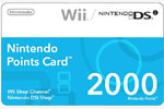 Nintendo Wii 2000 Points
