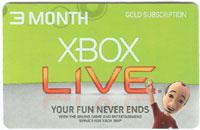 XBOX Live 3 Month Card